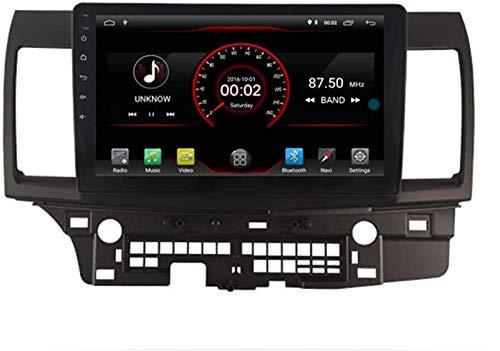FWZJ Autosion Android 10 Reproductor de DVD para Coche GPS Unidad Principal estéreo Navi Radio Multimedia WiFi para Mitsubishi Lancer 2007-2017 Control del Volante