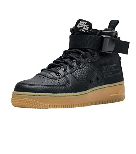 Nike NIKEAA3966-002 SF Air Force 1 Mid, Nere, Gum, Aa3966-002, da Donna Donna
