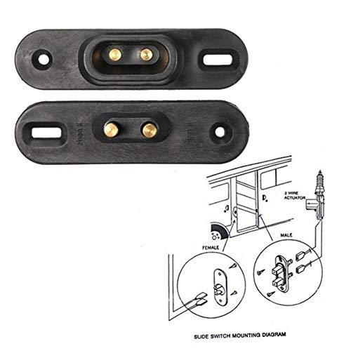 belupai Interruptor de contacto de puerta corredera negro para sistema de bloqueo central Van alarma de coche