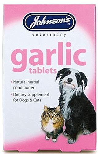 SIPW Johnson's Knoflook Tabletten 100% Natuurlijke kruiden Conditioner voor honden en katten, 40 Tablets