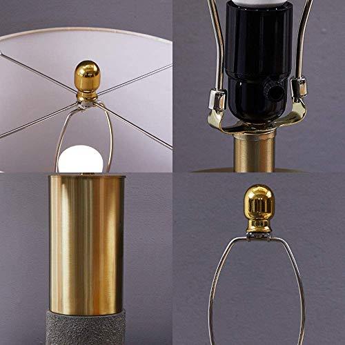 Lámpara de escritorio Lámpara de mesa decoración de la sala de estar del hogar iluminación hotel habitación de invitados luz moderna lámpara de mesa de lujo dormitorio lámpara de noche (color:dorado)