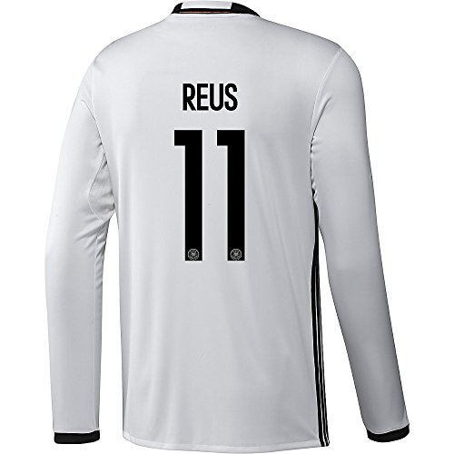 adidas Reus #11 Germany Home Soccer Jersey Euro 2016 Long Sleeve (XS)