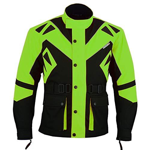 German Wear Textilien Jacke Motorradjacke Kombigeeignet, 54/XL, Grün