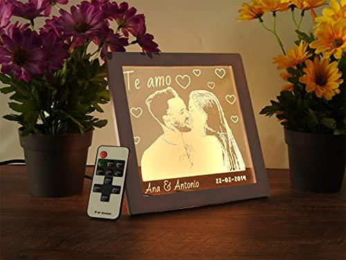 Oh! My Neon Lampara Acrílico con Tu Foto 3D Personalizada Led controla...