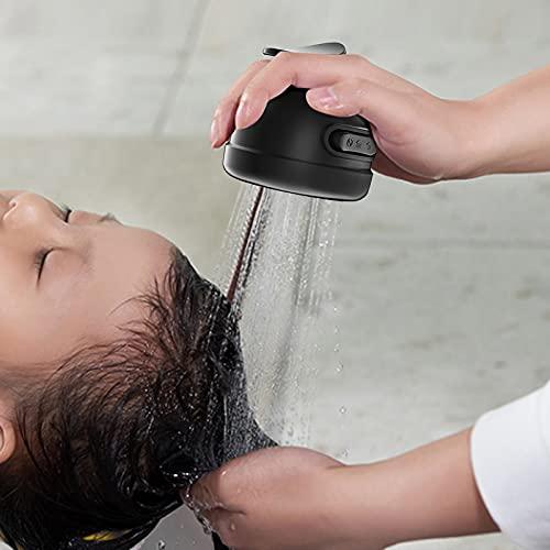 2-in-1 Three-Speed Adjustment Bathroom Shower Head Adjustable Shower Head,High Pressure Shower Head Handheld Spray (Black)