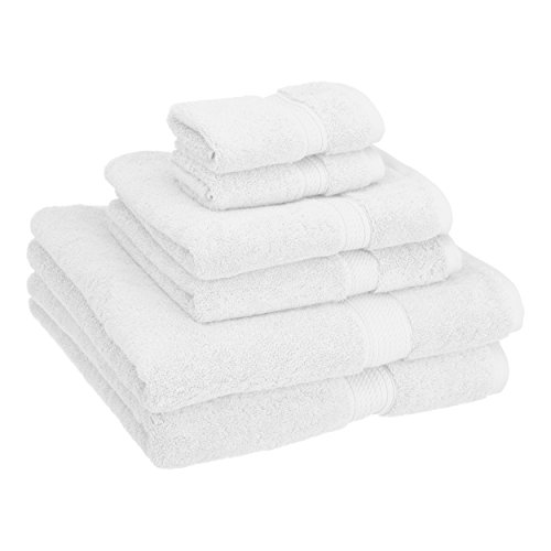 Superior 900GSM 6 PC WH Towel Set, 6PC, White