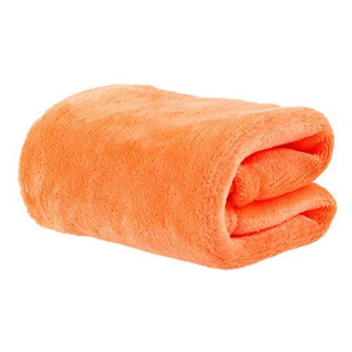 ounona peluche coperta in pile caldo molle coperta in pile coperta divano letto coperta (arancione)