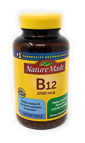 Nature Made Vitamin B12 1000 mcg, 400 Softgels