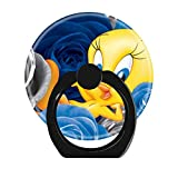 LoveStand-Cell Phone Ring Holder 360 Degree Finger Ring Stand for Smartphone Tablet and Car Mount-Tweety with Roses Square