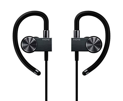 1MORE Active Wireless Sport EB100 - Auriculares Estilo gancho de oreja Bluetooth deporte, in-ear con micrófono/remoto para Apple iOS y Android, Negro