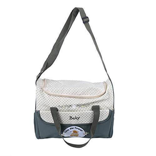 Bolsa de maternidad con fuerte capacidad de carga sin deformación para madre e hijo con cordón para cochecito(green)