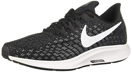 Nike Women's Air Zoom Pegasus 35 Running Shoes (7, Black/Gunsmoke/Oil Grey/White)