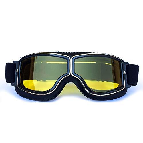 Yopria Occhiali Moto Vintage, Harley Vespa Occhiali da Sole da Uomo e Donna, Occhiali Motocross Sportivi, Goggles Aviatore Ciclismo MTB