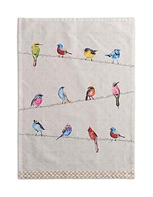 Maison d' Hermine Birdies On Wire 100% Cotton Set of 2 Kitchen Towels, 20 - inch by 27.5 - inch.