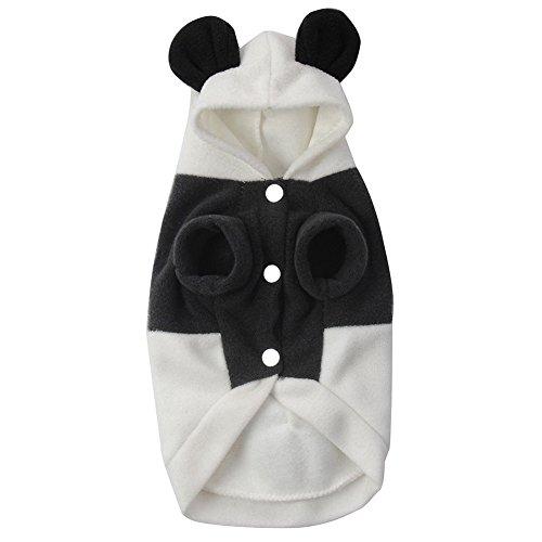 Générique Costume Panda Combinaison Manteau d'hiver à Capuche pour Petit Chien - L, L