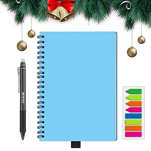 HOMESTEC Reusable Smart Notebook Erasable Wirebound Notebook Sketch Pads APP Storage(8.5 x 5.7in, light blue)
