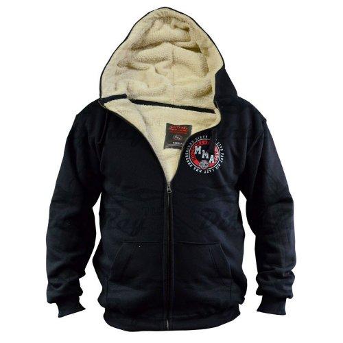MMA Winter Warm Isolierte Herren Men's Kapuzen Hooded Sweatshirt Hoodie BP1 (L)