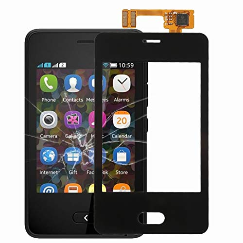 MDYHMC WBF AYSMG Touch Panel for Nokia Asha 501 (Nero) (Color : Black)