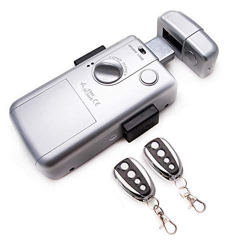 KENROD Unsichtbare Intelligente Schließung Tür Schloss mit 2 Kontroller Schloss Outdoor Schloss Elektrisch Sicherheitsschlösser Sicherheitsschlösser Für Haustüren Farbe Silber