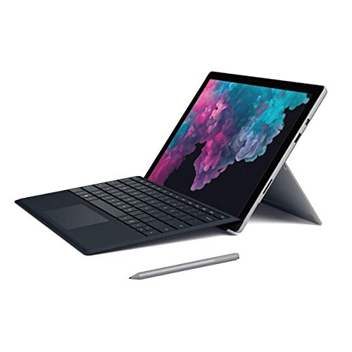"""2019 Microsoft Surface Pro 6 12.3"""" (2736x1824) 10-Point Touch Display Tablet Laptop PC W/Surface Type Cover, Intel 8th Gen i5-8250U, 8GB RAM, 128GB SSD, Windows 10 (Black Type Cover + Platinum Pen)"""
