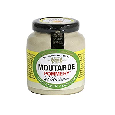 Pommery - Whole Grain Mustard with Lemon & Basil, 100g (3.5 oz)