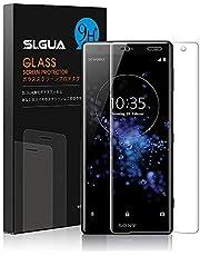 Xperia XZ2 Premium フィルム SLGUA 『3D全面』 XZ2 Premium 強化ガラスフィルム 硬度9H 高透過率 飛散防止 指紋防止 気泡ゼロ 自動吸着【透明/12ヶ月間保証】