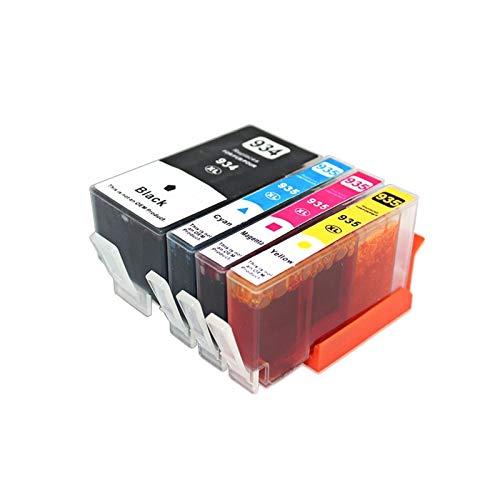 YYCH Tinta de Impresora para Cartuchos de Tinta HP 934XL HP 935XL 934XL 935XL 934 935 para HP934 para HP OfficeJet Pro 6812 6830 6815 6835 6230 6820 Impresora Productos de Oficina (Color : 1 Set)