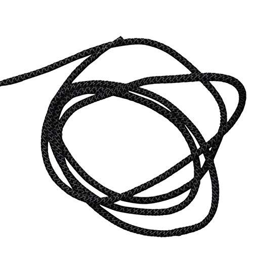 samSN 1 par de zapatos fluorescentes con una cuerda redonda zapatos con cordones reflexión de la luz la cabeza del metal cordones cordón, 19 Negro, 60cm