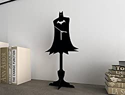 silhouette clock of Batman