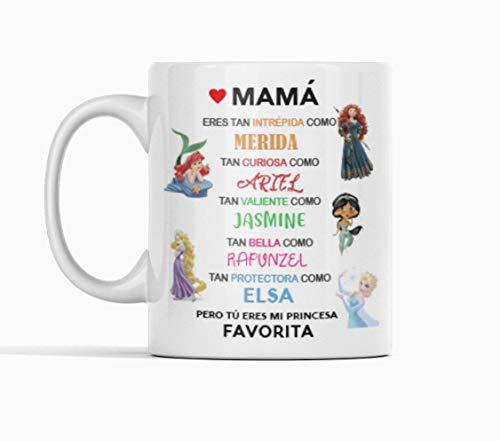 Desconocido Taza de cerámica Dia de la Madre. Felicidades Mamá. Mi Princesa Favorita. Mamá Princesas
