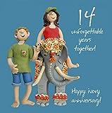 14th Wedding Anniversary Card