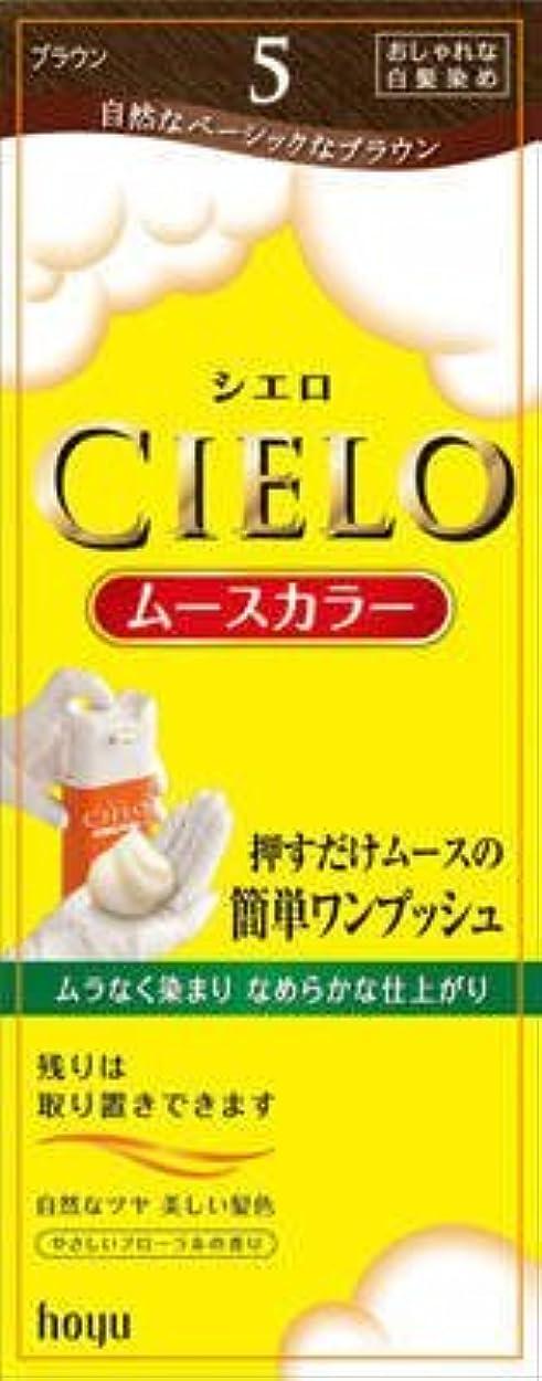 メインお茶きらめきシエロ ムースカラー 5 ブラウン × 3個セット