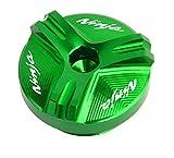 RONGLINGXING Pieces de Sport Motorise Huile CNC moto Bouchon de remplissage Bouchon for Kawasaki Ninja 250R 300 500R 600R 750R ZX10 ZX11 ZX12R ZX6R ZX9R ZX14R Z750 VN900 ZX-10R (Color : Green)