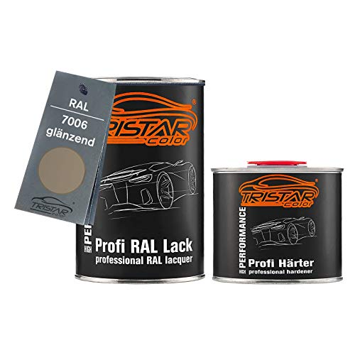 TRISTARcolor RAL 7006 Beigegrau glänzend 2K Autolack 1,5 Liter / 1500 ml Dose inkl. Härter