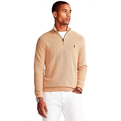 Polo Ralph Lauren Jersey Cotton Half Zip (XXL, Old White)