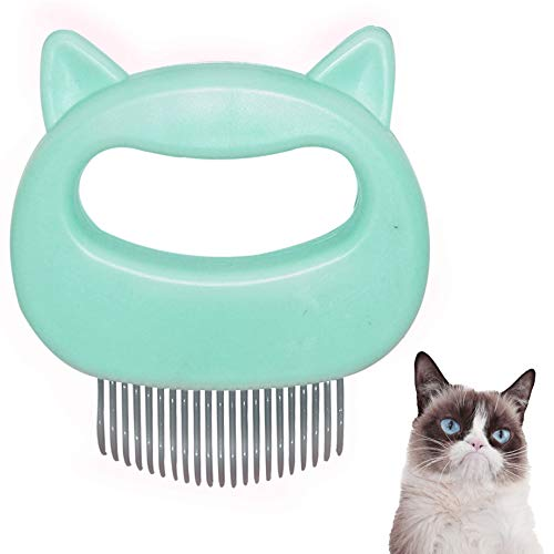 BEAULOOK Cat Comb,Pet Gentle Grooming Hair Remover and Massage Comb Magic Shell Dematting Hair Comb for CatsRabitsDogs Green Shell Comb cat Ear