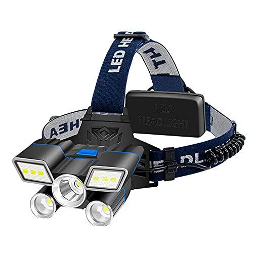 Linterna frontal recargable, lámpara de cabeza LED, resistente al agua, ajustable para niños y adultos, luz de cabeza perfecta para correr, senderismo, lectura, camping, al aire libre y más