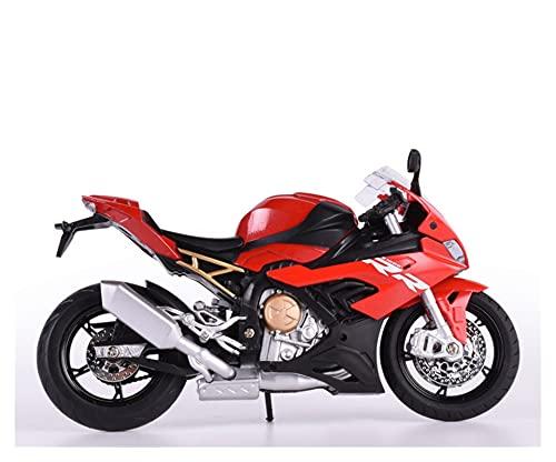 El Maquetas Coche Motocross Fantastico 1:12 Aleación Simulación Diecast Modelo Motocicleta Juguete para Réplica BM S1000RR con Sonido Y Luz Niño Colección Regalo Bicicleta Regalos Juegos Mas Vendidos