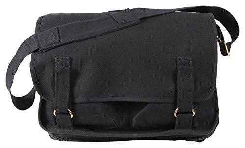 Rothco Canvas European School Bag, Black