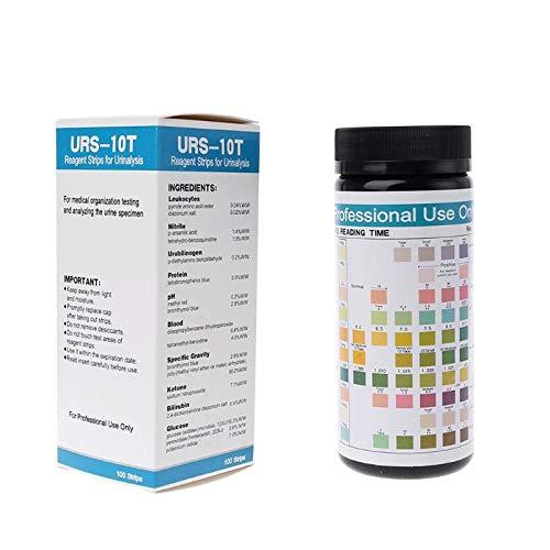 SHY-DPM, 1 box 100 strips Urinalysis Reagent Test Paper 10 Parameters Test Strips Leukocytes, Nitrite, Urobilinogen, Protein, pH