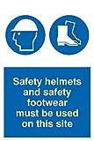 Viking signos mc515-a4p-3m'Cascos de seguridad y calzado de seguridad debe ser usado en este sitio' signo, 3mm, plástico rígido, 300mm H x 300mm W