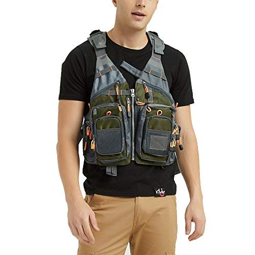 Obcursco Fly Fishing Vest Pack Adjustable for Men and Women with...