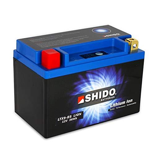Batería 12 V 3 Ah (8AH) YTX9-BS iones de litio Shido 50812 Versys 1000 ABS LZT00B 15-18