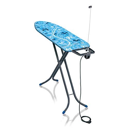 Leifheit Tabla de planchar plegable Air Board Compact M para planchas de vapor Edición limitada gris azulado, mesa de planchar ligera, tabla de planchado en menos tiempo 🔥