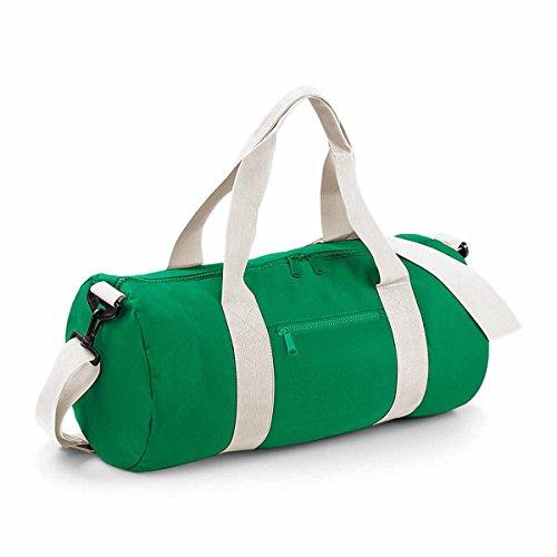 Bag Base BG140KGOW Original Sac de tonneau Unisexe, Vert Kelly/Blanc cassé, Taille M