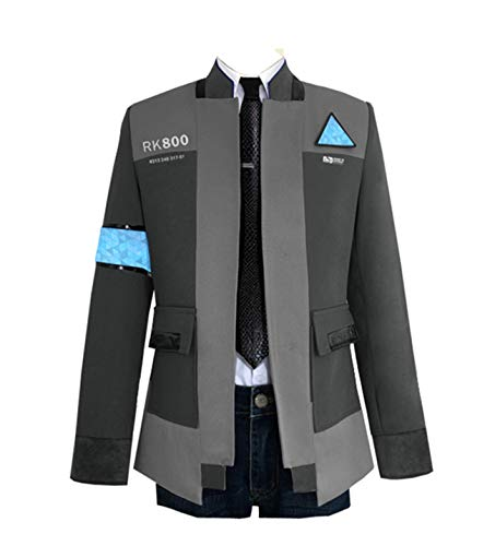 COSFLY Game Become Human Connor Jacket Cosplay Costume Men Coat Uniform Suit Small, Grey 2 (Coat + S - http://coolthings.us