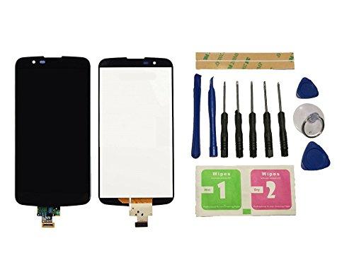 Flügel para LG K10 LTE K420N K430 K430ds Pantalla LCD pantalla Negro Táctil digitalizador Asamblea Pantalla ( sin marco ) de Recambio & Herramientas