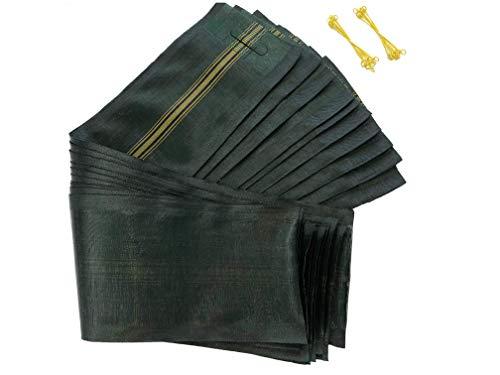 10 Stück Langzeit Sandsäcke 120 x 27 cm mit Tragegriff und Metallschlaufen beschichtet ✓ inkl. Ersatzschlaufe