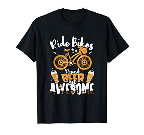 Andare in bicicletta Bere Birra Beer Get Awesome - Ciclismo Maglietta