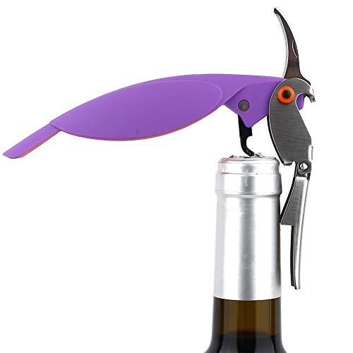 Cavatappi Apribottiglie a Parrot Forma per Vino di Design Multifunzione Camerieri Chiave per Vino Apribottiglie Corvine e Tagliapasta